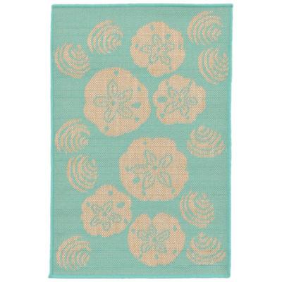Liora Manne Terrace Shell Toss Rectangular Rugs