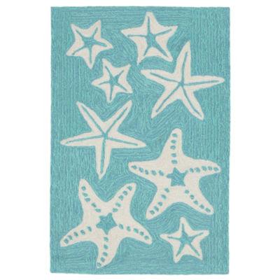 Liora Manne Capri Starfish Hand Tufted Rectangular Rugs