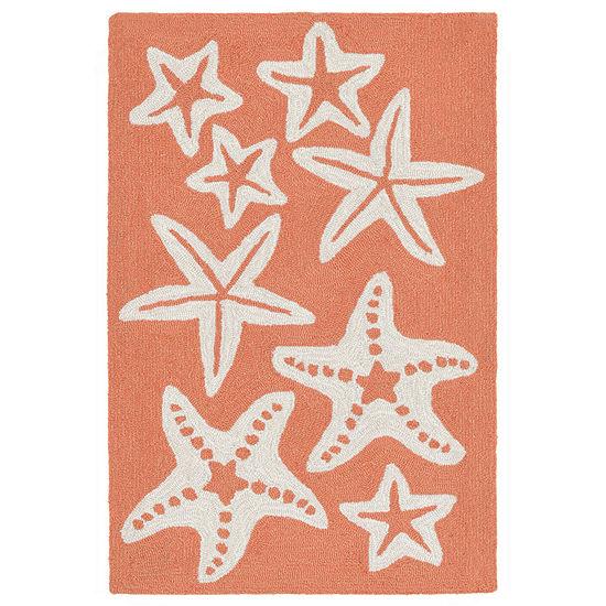 Liora Manne Capri Starfish Hand Tufted Rectangular Indoor/Outdoor Rugs
