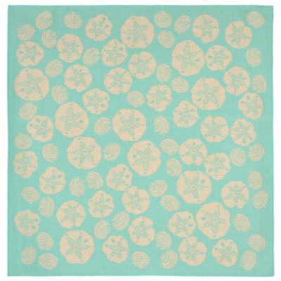 Liora Manne Terrace Shell Toss Square Rugs