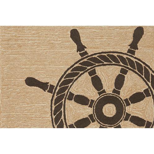 Liora Manne Frontporch Ship Wheel Hand Tufted Rectangular Rugs