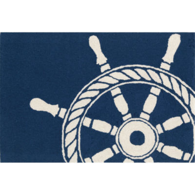 Liora Manne Frontporch Ship Wheel Hand Tufted Rectangular Rugs