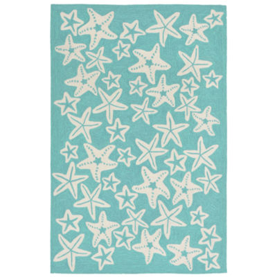 Liora Manne Capri Starfish Hand Tufted Rectangular Indoor/Outdoor Rugs