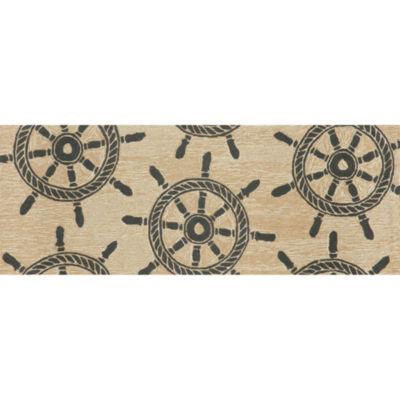 Liora Manne Frontporch Ship Wheel Hand Tufted Rectangular Runner