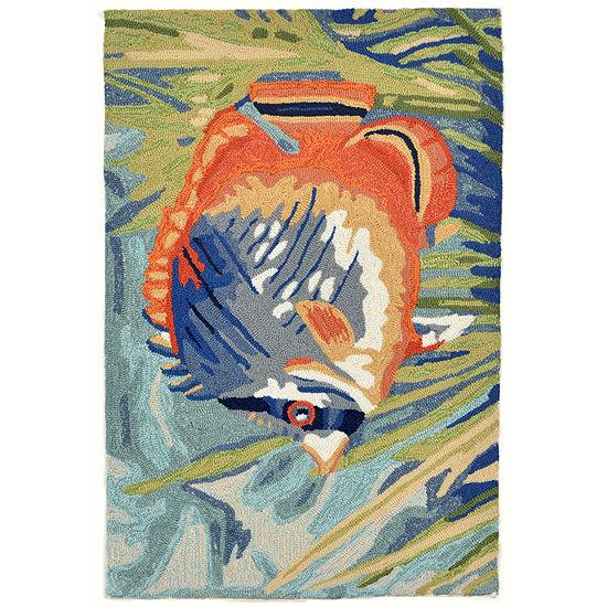 Liora Manne Ravella Tropical Fish Hand Tufted Rectangular Indoor/Outdoor Rugs