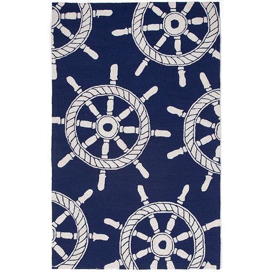 Liora Manne Frontporch Ship Wheel Hand Tufted Rectangular Indoor/Outdoor Rugs