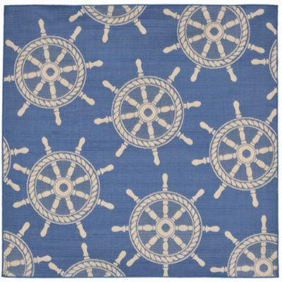 Liora Manne Terrace Shipwheel Square Rugs