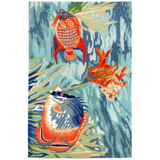 Liora Manne Ravella Tropical Fish Hand Tufted Rectangular Rugs