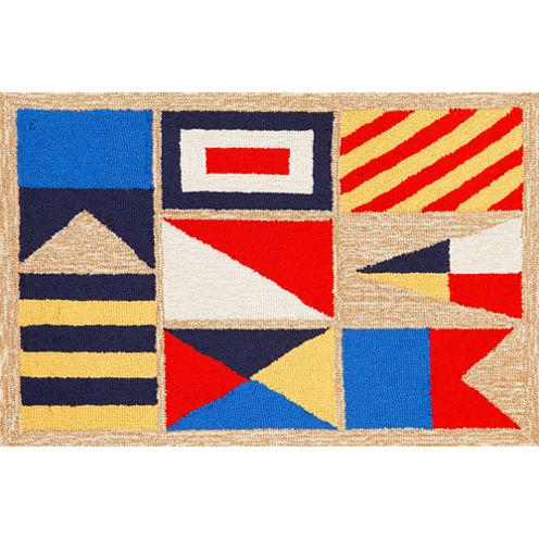 Liora Manne Frontporch Signal Flags Hand Tufted Rectangular Rugs