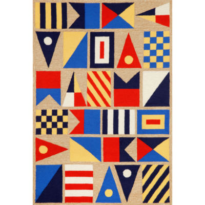 Liora Manne Frontporch Signal Flags Hand Tufted Rectangular Rugs