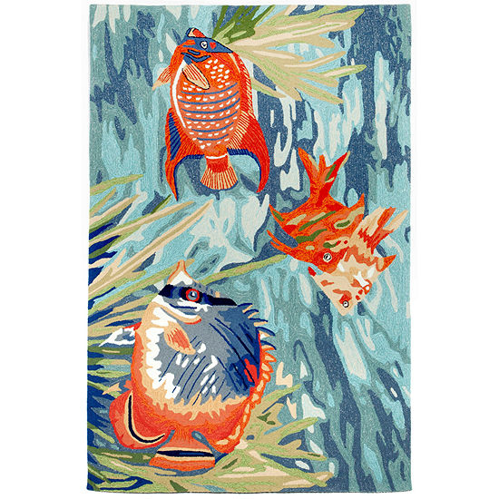Liora Manne Ravella Tropical Fish Hand Tufted Indoor/Outdoor Rugs