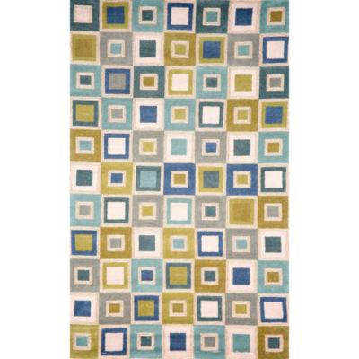Liora Manne Spello Big Squares Hand Tufted Rectangular Indoor/Outdoor Area Rug