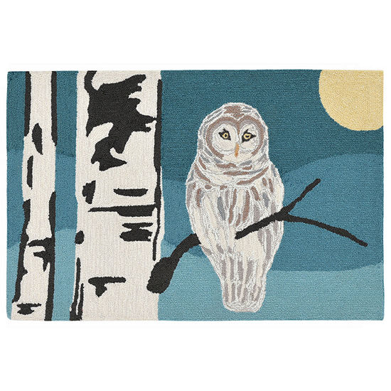 Liora Manne Frontporch Snowy Owl Hand Tufted Rectangular Indoor Outdoor Rugs