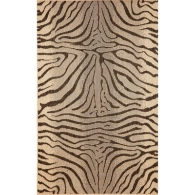 Liora Manne Terrace Zebra Rectangular Indoor/Outdoor Area Rug