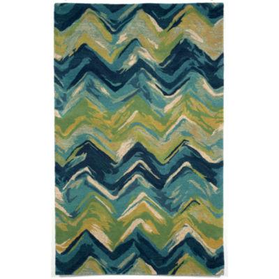 Liora Manne Tivoli Chevron Hand Tufted Rectangular Indoor Rugs