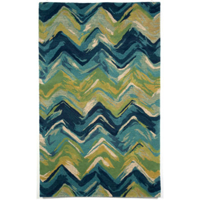 Liora Manne Tivoli Chevron Hand Tufted Rectangular Rugs