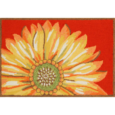 Liora Manne Frontporch Sunflower Hand Tufted Rectangular Indoor/Outdoor Rugs