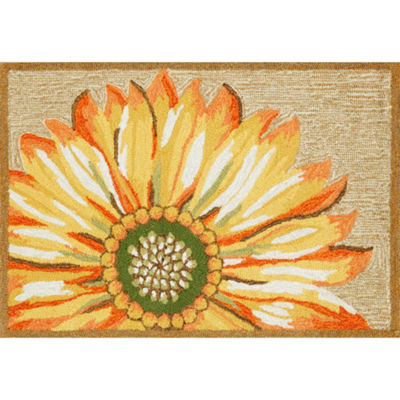 Liora Manne Frontporch Sunflower Hand Tufted Rectangular Rugs