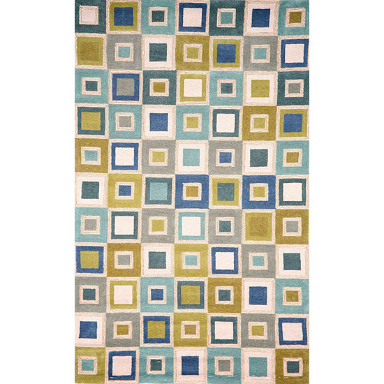 Liora Manne Spello Big Squares Hand Tufted Rectangular Indoor/Outdoor Rugs
