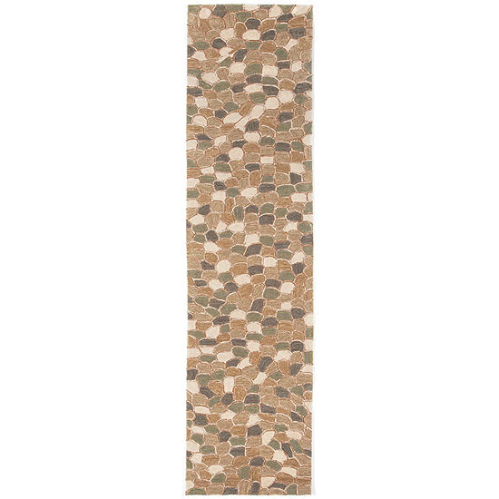 Liora Manne Spello Pebbles Hand Tufted Rectangular Indoor Outdoor Runner