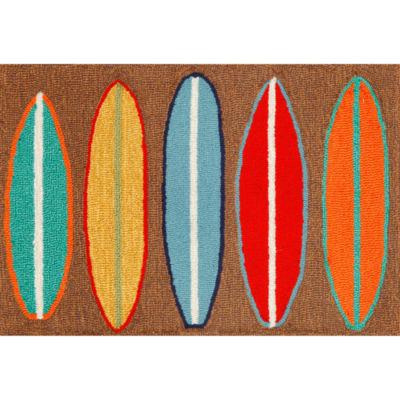 Liora Manne Frontporch Surfboards Hand Tufted Rectangular Rugs