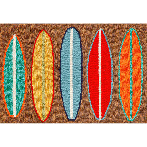 Liora Manne Frontporch Surfboards Hand Tufted Rectangular Rugs