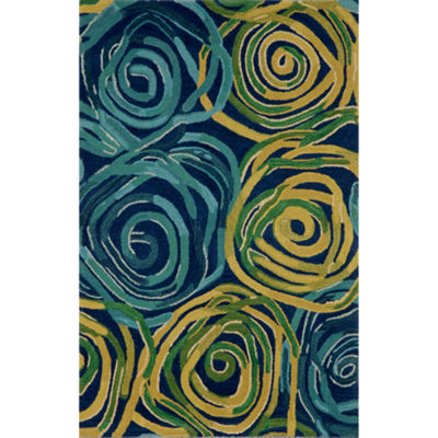 Liora Manne Tivoli Rambling Rose Hand Tufted Rectangular Rugs
