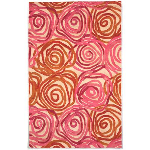 Liora Manne Tivoli Rambling Rose Hand Tufted Rectangular Rugs