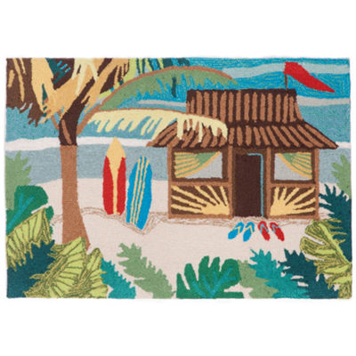Liora Manne Frontporch Tiki Hut Hand Tufted Rectangular Indoor/Outdoor Accent Rug