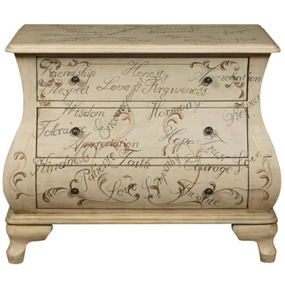 Home Meridian Hand Painted Storage Chest