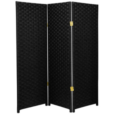 Superbe Oriental Furniture 4u0027 Woven Fiber 3 Panel Room Divider