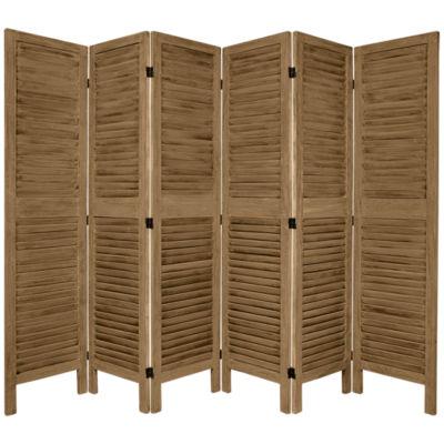 Oriental Furniture 5.5' Classic Venetian 6 Panel Room Divider