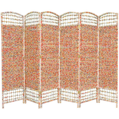Oriental Furniture 5.5' Recycled Magazine 6 PanelRoom Divider