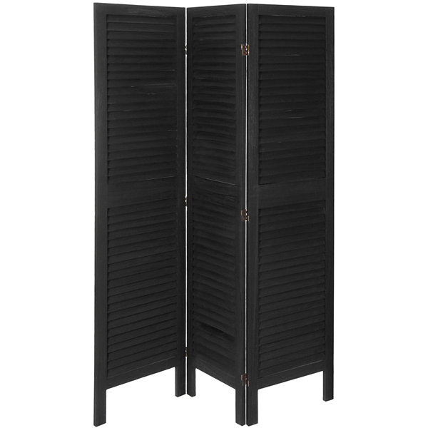 Oriental Furniture 5.5' Modern Venetian 3 Panel Room Divider