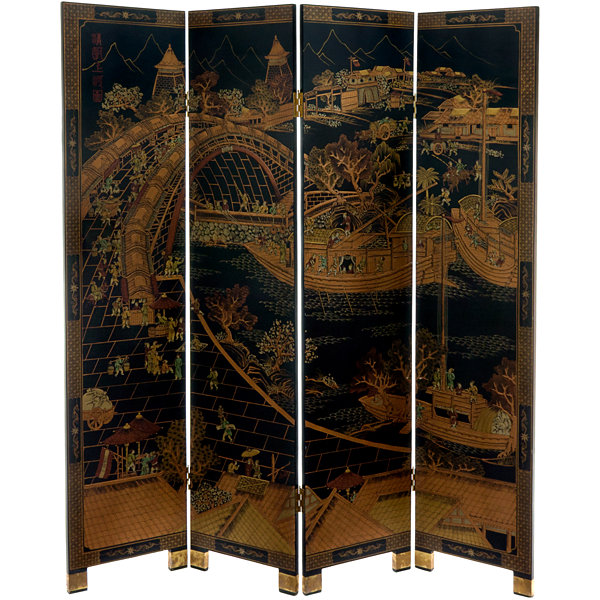 Oriental Furniture 6' Ching Ming Room Divider