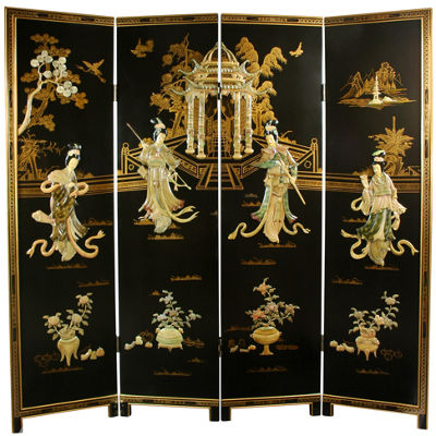 Oriental Furniture 6' Dancing Ladies Room Divider