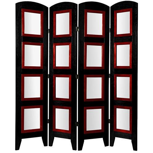 Oriental Furniture 5.5' Photo Shoji 4 Panel Room Divider