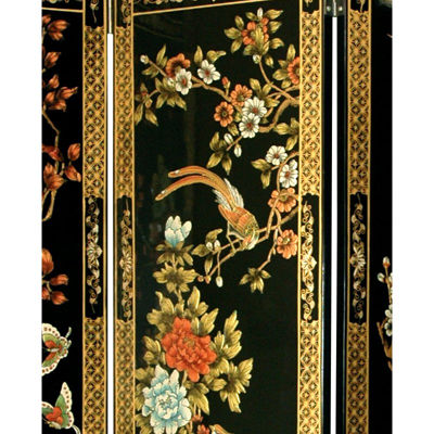 Oriental Furniture 6' Four Seasons Flowers Room Divider