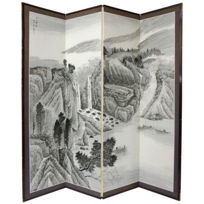 Oriental Furniture 6' Misty Mountain Room Divider