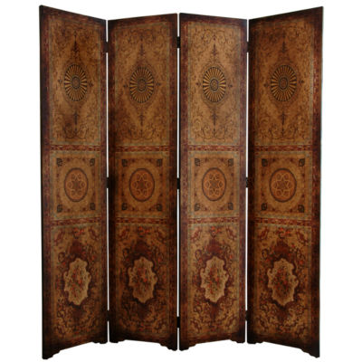 Oriental Furniture 6' Olde Worlde Parlor Room Divider