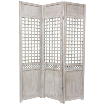 Oriental Furniture 6' Open Lattice Room Divider