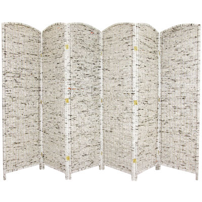 Oriental Furniture 6' Recycled Newspaper 6 Panel Room Divider