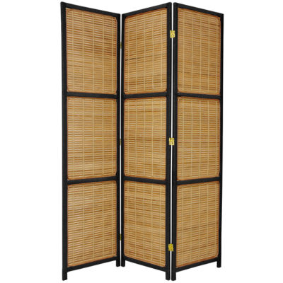Oriental Furniture 6' Woven Accent 3 Panel Room Divider