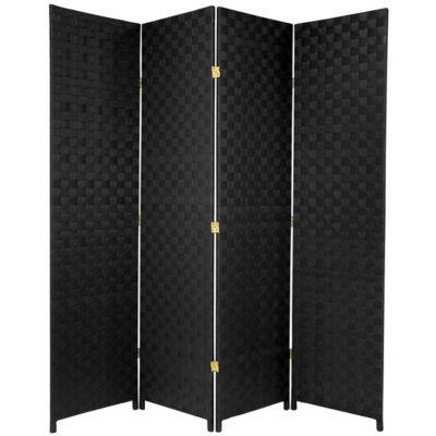 Oriental Furniture 6' Outdoor 4 Panel Room Divider