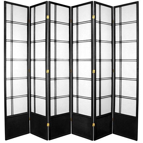 Oriental Furniture 7' Double Cross Shoji 6 Panel Room Divider