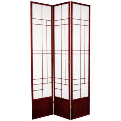 Oriental Furniture 7' Eudes Shoji 3 Panel Room Divider