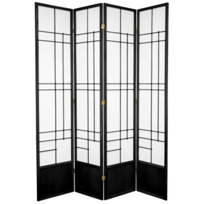 Oriental Furniture 7' Eudes Shoji 4 Panel Room Divider