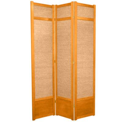 Oriental Furniture 7' Jute Shoji 3 Panel Room Divider