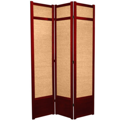 Oriental Furniture 7' Jute Shoji 3 Panel Room Divider