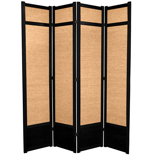 Oriental Furniture 7' Jute Shoji 4 Panel Room Divider